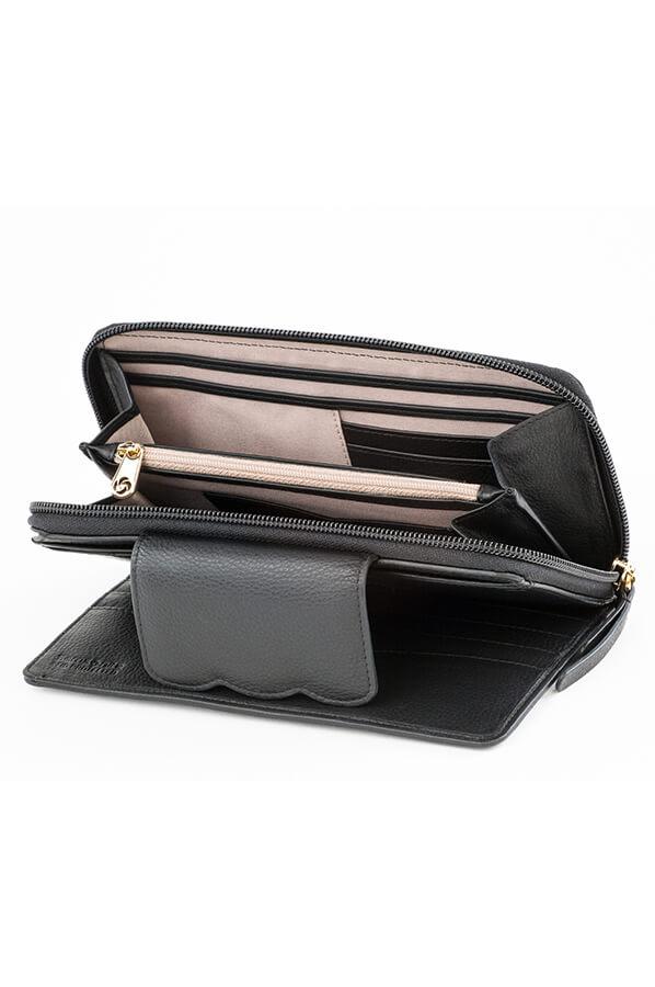 6d52b6ab35f Samsonite Bluebell Slg Portemonnee Zwart | Rolling Luggage